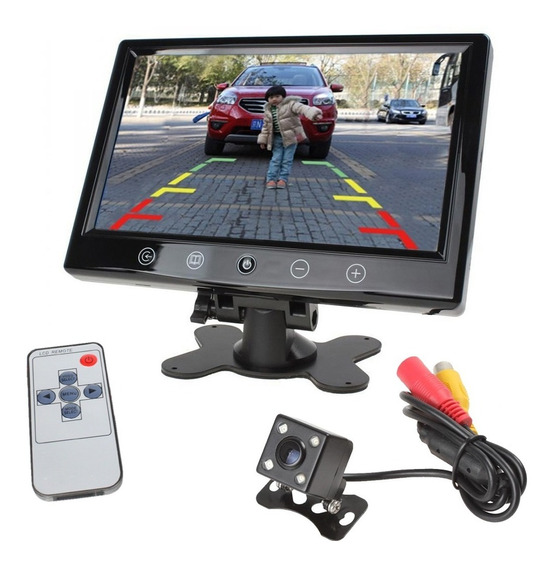 Monitor Pantalla Lcd 7 Tft Seguridad Video Camara Sd Auto