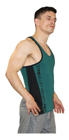 Musculosa Gym Fit Culturismo Musculosa Entallada Art7210