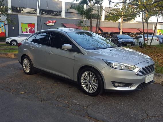 Ford Focus Fastback Titanium 16/17 Único Dono Com Teto Solar
