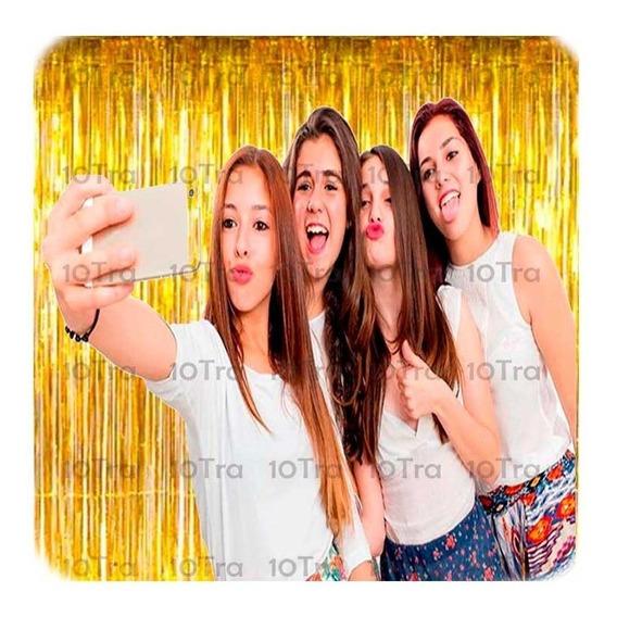 Cortina Metalizada Decoracion Guirnalda Flecos Selfie Deco