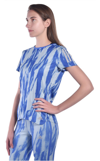 Playera Regular Fit adidas Azul Cf2130 Mujer