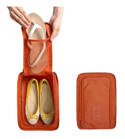 Organizador Calzado Valija Zapatos Viaje Zapatillas Ojotas Tela Impermeable