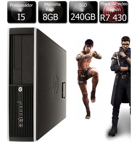 Pc Gamer Hp I5 3.2ghz 8gb Ssd 240gb  R7 430 2gb 128bits
