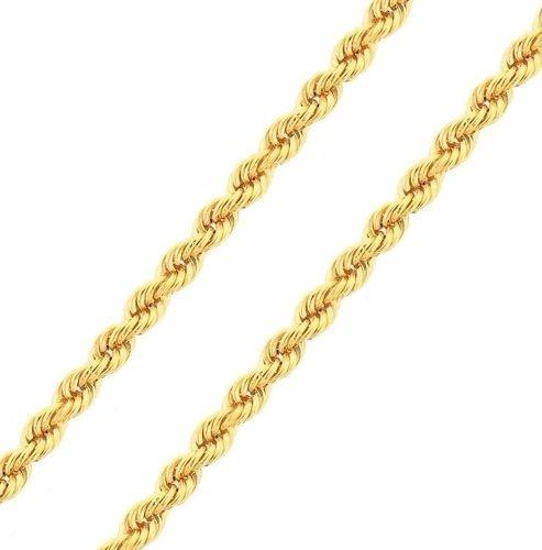 Corrente De Ouro 18k Cordão Torcido 50cm 3,6g - F41