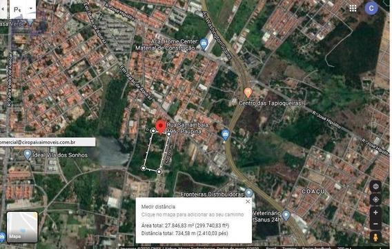 Terreno Comercial A Venda, Na Paupina - Barão De Aquiraz - Messejana R$ 6.000.000,00 - Te0461