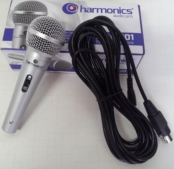 Microfone Com Fio Harmonics Mdc201 + Cabo + Frete