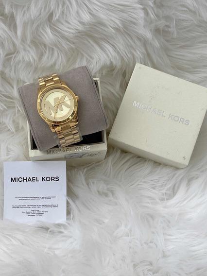 Relógio Michael Kors Dourado, Original