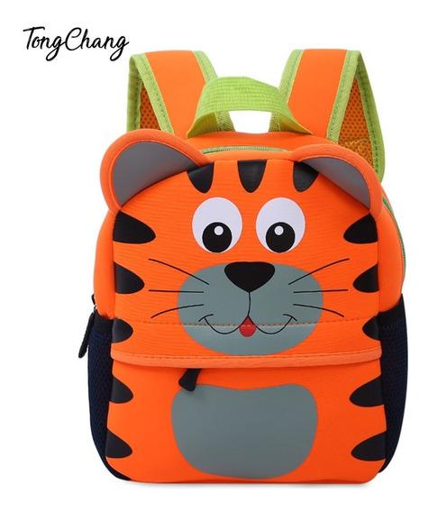 Mochila Escolar Impermeable Diseño Animal Colorido P/niños
