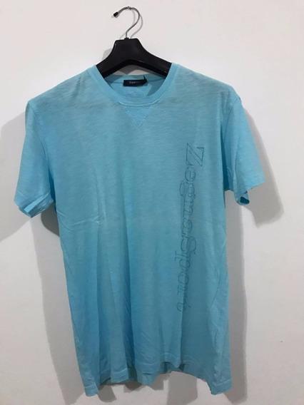 Camiseta Ermengildo Zegna Sport Azul Maserati Igual Nova Top