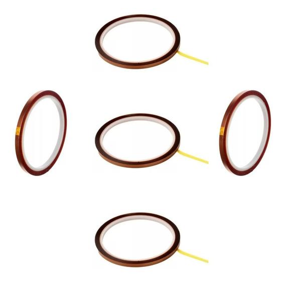 5 Fitas Adesivas Térmica Para Sublimação 5mm X 33m Kapton