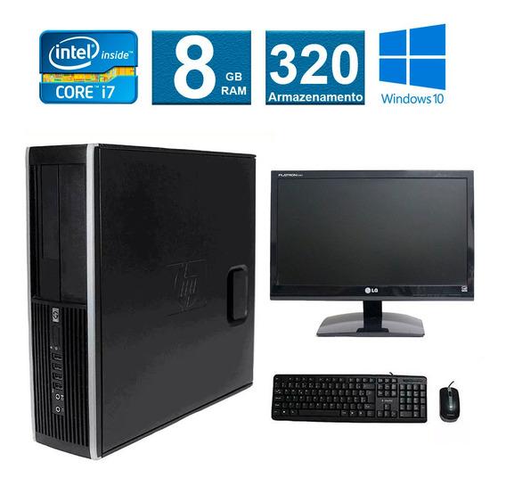 Computador Hp Elite 8200 I7 8gb 320gb Monitor 19 Polegadas