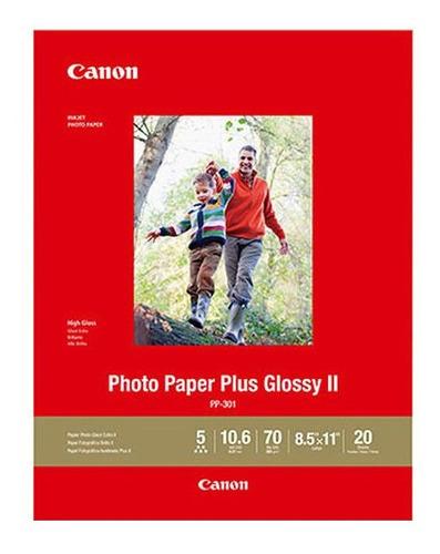 Imagen 1 de 1 de Papel Fotografico Canon Plus Glossyii 8.5x11  20hojas Pp-301