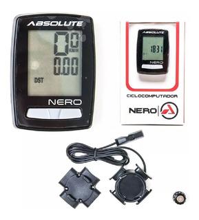 Ciclo Computador Velocimetro Absolute Bike Nero 10 Funções