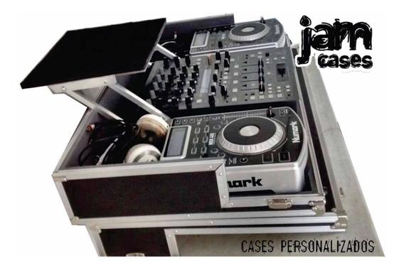 Case P/ 02 Cdj Sob Medida + 01 Mixer 4 Canais + Acessórios