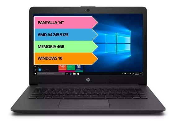 Notebook Hp A4 245 9125 14.0 4gb 500gb Windows 10 12cts