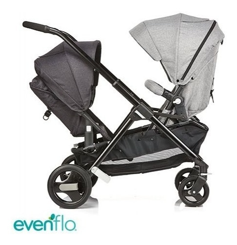 Cochecito Doble Mellizos Hermanos Evenflo Sync 2 Convertible