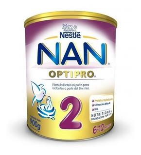 Nan 2 Nestle 6 A 12 Meses Formula Lactea 900gr X 12 Paquetes