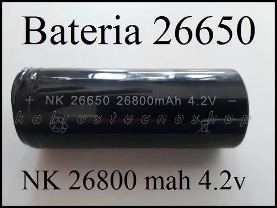 Kit 2 Bateria Lanterna 26650 26800 Mah 4.2v E1 E2 E11 X900