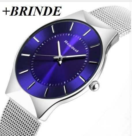 Relógio Fino De Luxo Aço Inox Ultra Fino Slim Promoção