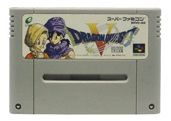 Dragon Quest V Tenkuu No Hanayome Snes Japonês Mídia Física