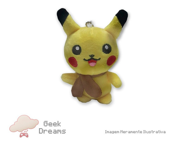 Pokémon - Pikachu De Pelúcia - Plush - 13 Cm - Chaveiro