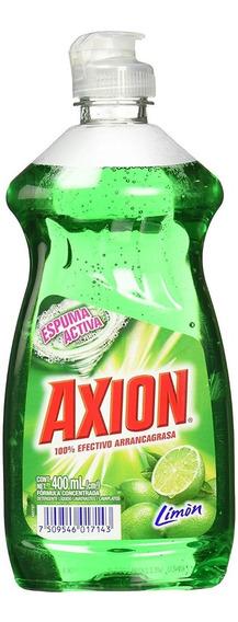 Lavatrastes Líquido Axion Aroma Limón 400 Ml