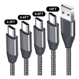 Usb Tipo C Cables 4 Paquete 33ft 2 X 66ft 10 Ft Usb C A Usb