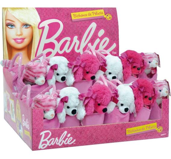 Pelucia Barbie Pets Na Bolsinha Rosa Fun Dp.c/12