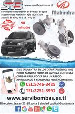 Reparacion De Bomba De Agua Automotriz Mahindra Xylo E4,e2,e