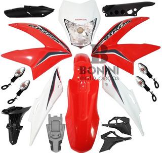Kit Carenagem Honda Nxr 150 Bros 2014 Vermelho / Adesivos /