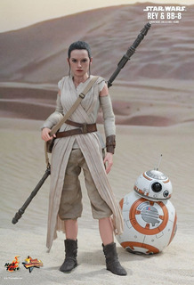 Figura Hot Toys Star Wars7 Rey & Bb-8 Sixth Scale 1/6 Deluxe