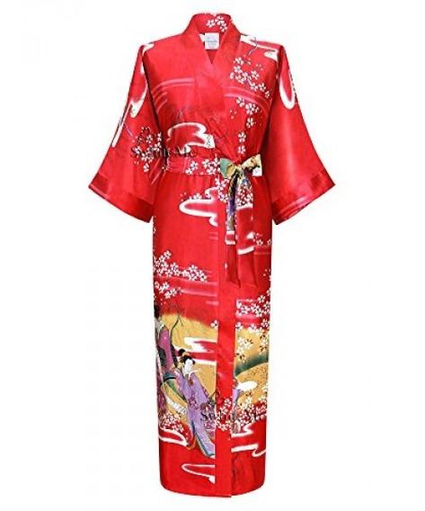 Traje De Kimono De Mujer Swhiteme, Largo, Talla Única, Ge