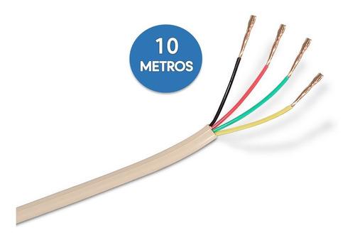 Cable Telefónico Rj11 De 4 Hilos En Color Blanco Metros