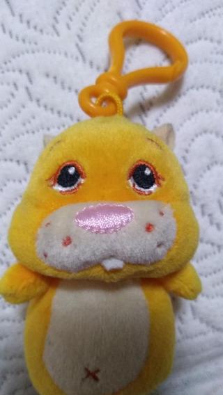 Chaveiro Pelúcia Zhu Zhu Pets Cor De Laranja Dtc Brinquedos