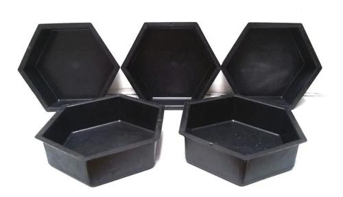 Fôrma Sextavada Bloquete Para Piso 25x25x06 Cm Kit Com 10pc