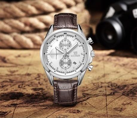 Relógio Pulso Masculino Megir Luxo Cronógrafo Original