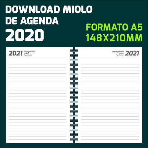 Miolo De Agenda 2020 Totalmente Editavel Formato A5 Mercado Livre
