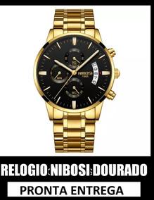Relogio Nibosi Social Masculino Top Luxo Preto