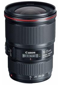 Lente Canon Ef 16-35mm F/4 L Is Usm Zoom T6 80d 7d 5d - Nova