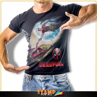 Camiseta Filme Deadpool Anti-herói Marvel Stamp For All