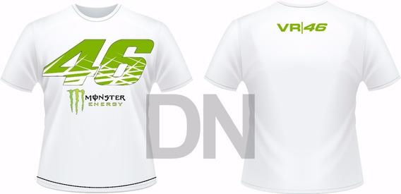 Camisa Valentin Rossi Vr 46 Branca Monster Laçamento 2018