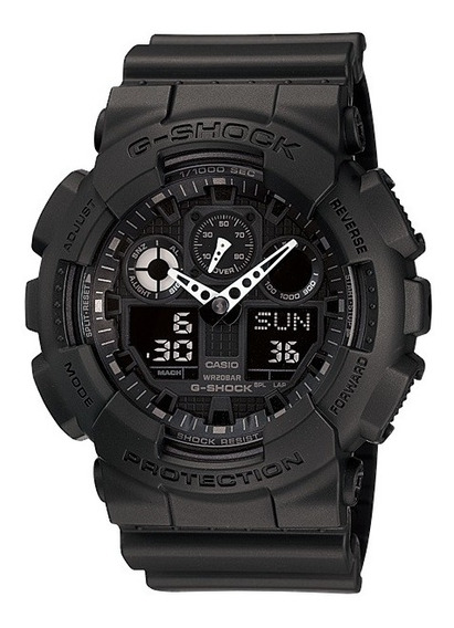 Relógio Casio G-shock Masculino Anadigi Preto Ga-100-1a1dr