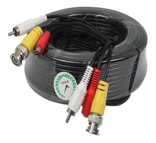 Cable Cctv Bnc + Power + Audio Camaras Seguridad 18 Mts Dvr