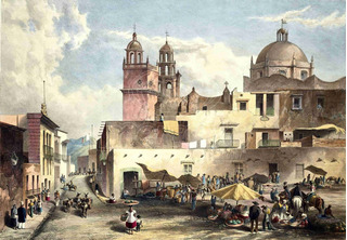 Lienzo Tela Arte Mexicano Guanajuato 1840 Daniel Egerton