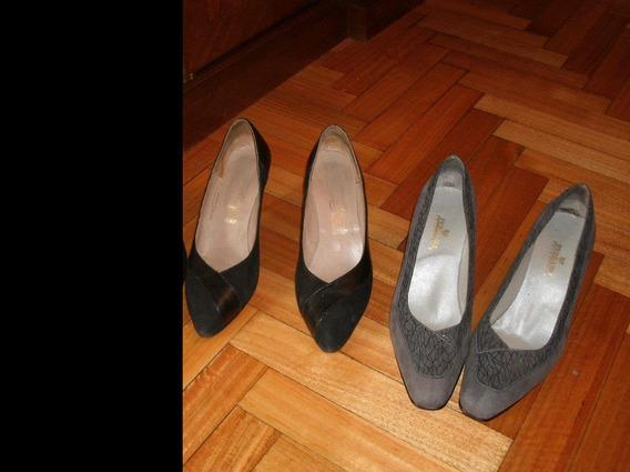 Oferta - 1 Par Zapato Fino Color Gris De Vestir Talle 39