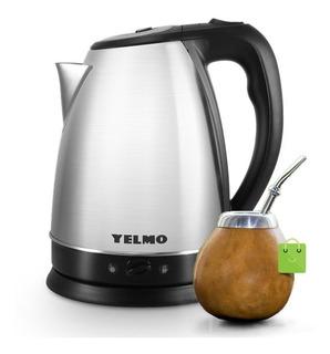 Pava Eléctrica Yelmo 1,8lt Corte Mate/cafe Acero Inox Pe3906