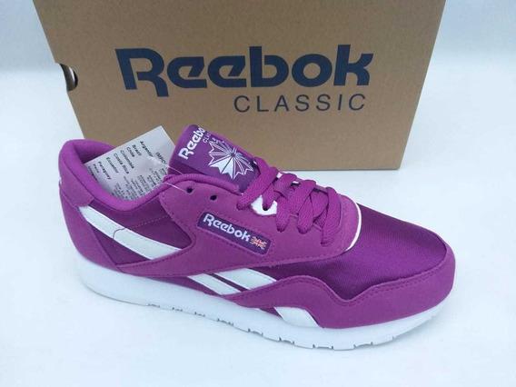 Tênis Reebok Classic Nylon Color Roxo Original