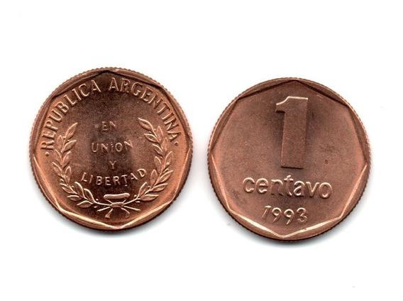 Argentina Moneda 1 Centavo 1993 Cobre Sin Circular Bu