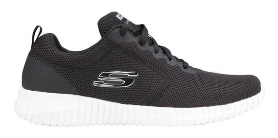 Zapatillas Skechers Elite Flex Knockto 52866 Bkw Envíos País