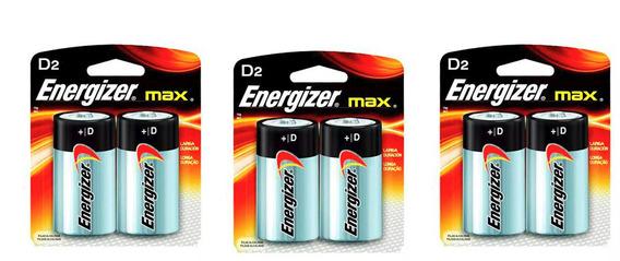 Pilha Alcalina D Max Energizer Cartela 3 Pacotes C/ 6 Pilhas